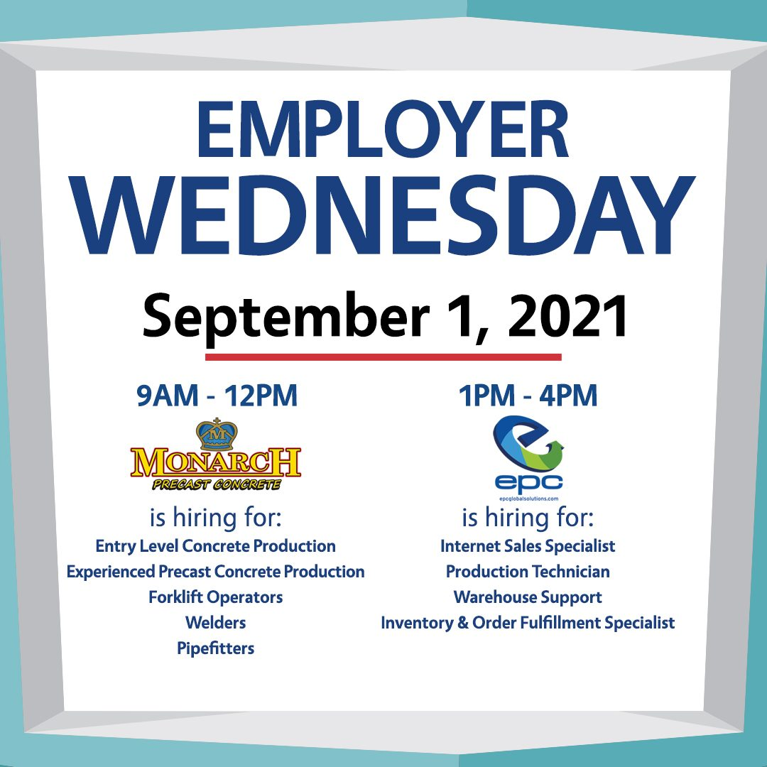 link to employer wednesday event on the Career Link website